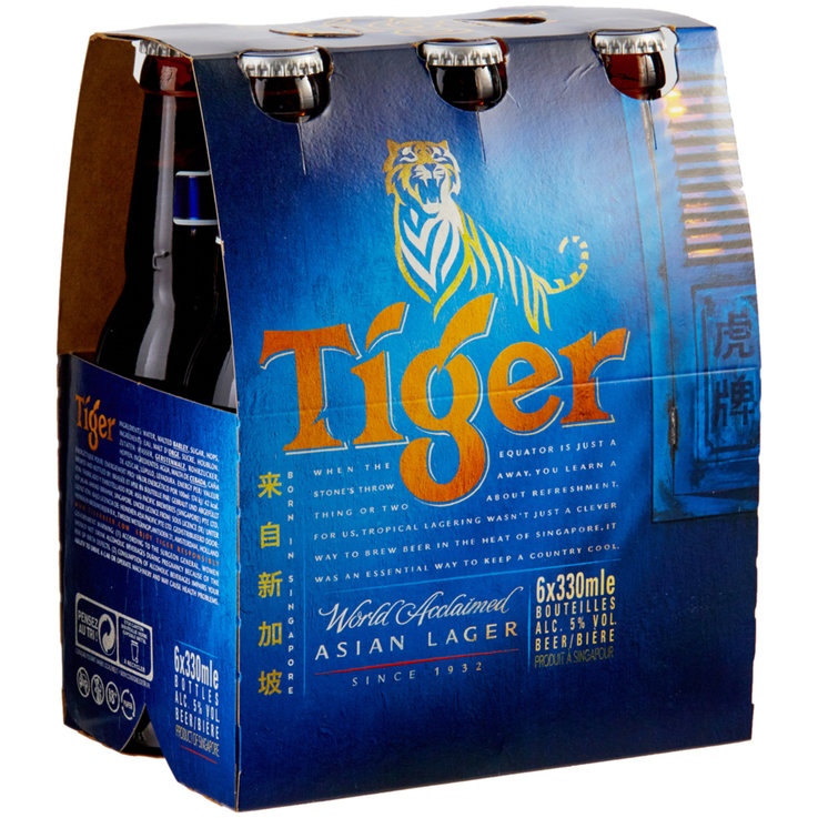 Bottiglie - Tiger Beer 6x33cl