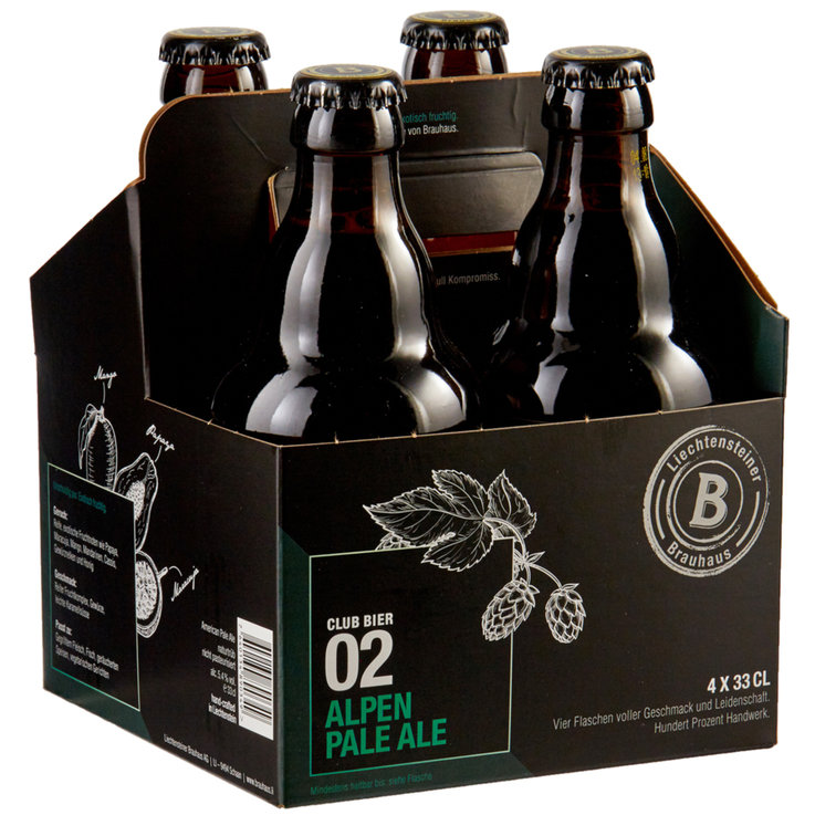 Bottles - Club 02 Alpen Pale Ale Beer 4x33cl