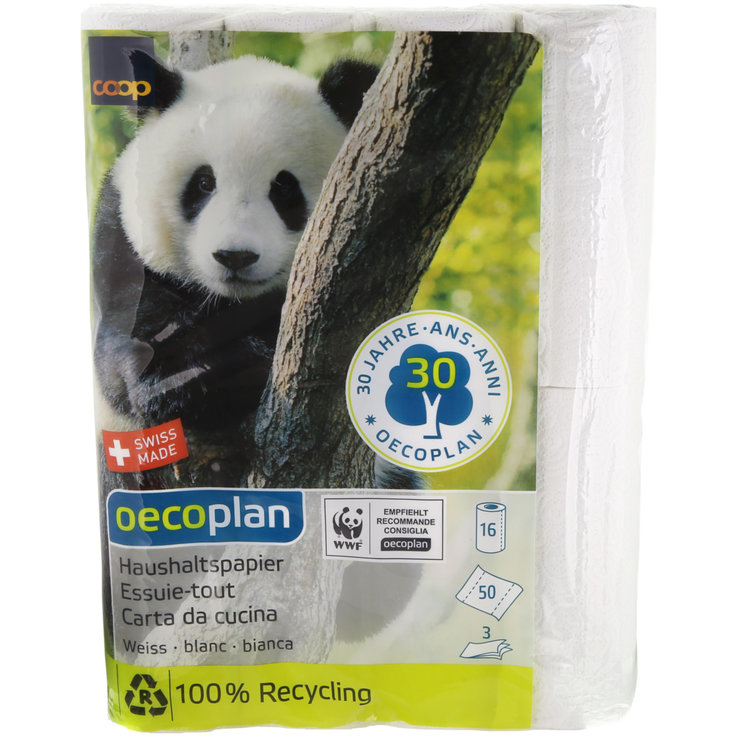Paper Towels - Oecoplan White Paper Towels 16 Rolls