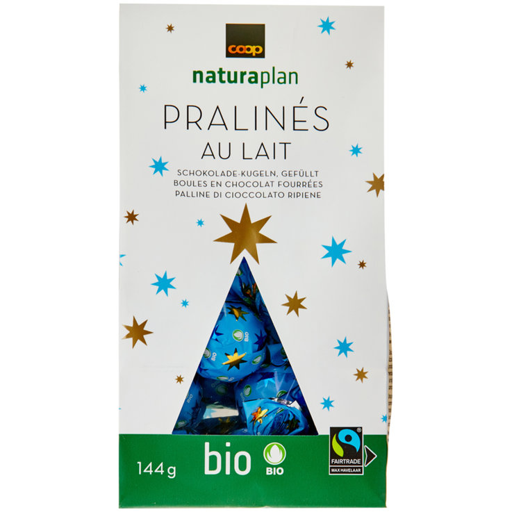 Pralines to go with Coffee - Naturaplan Bio Kugeln Lait Praliné