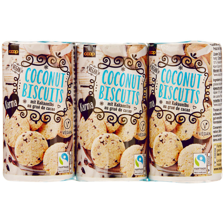 Chocolate Added - Karma Fairtrade Chocolate Coconut Cookies 3x90g