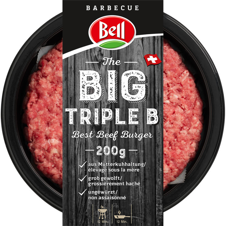 Breaded & Ready-to-Cook - Bell Naturabeef Big Triple B Burger