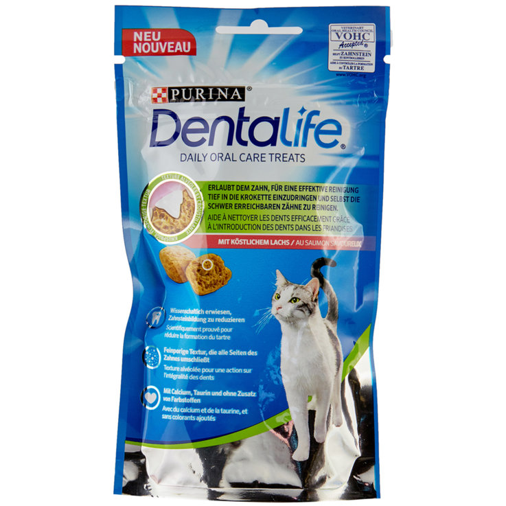 Snacks and Cat Milk - Dentalife Salmon Flavoured Cat Snacks