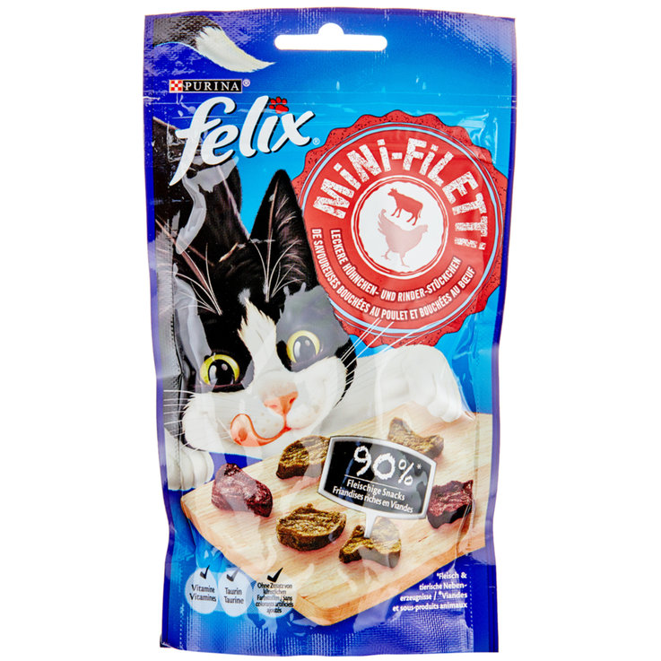 Snacks and Cat Milk - Felix Mini Chicken & Beef Fillet Cat Food