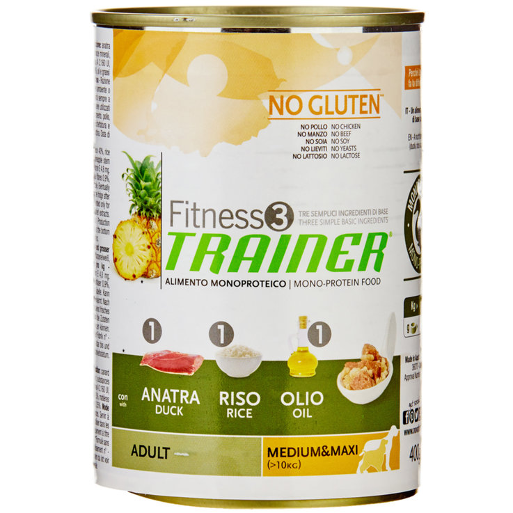 Wet Food - Trainer Fitness Duck Flavoured Dry Adult Dog Food
