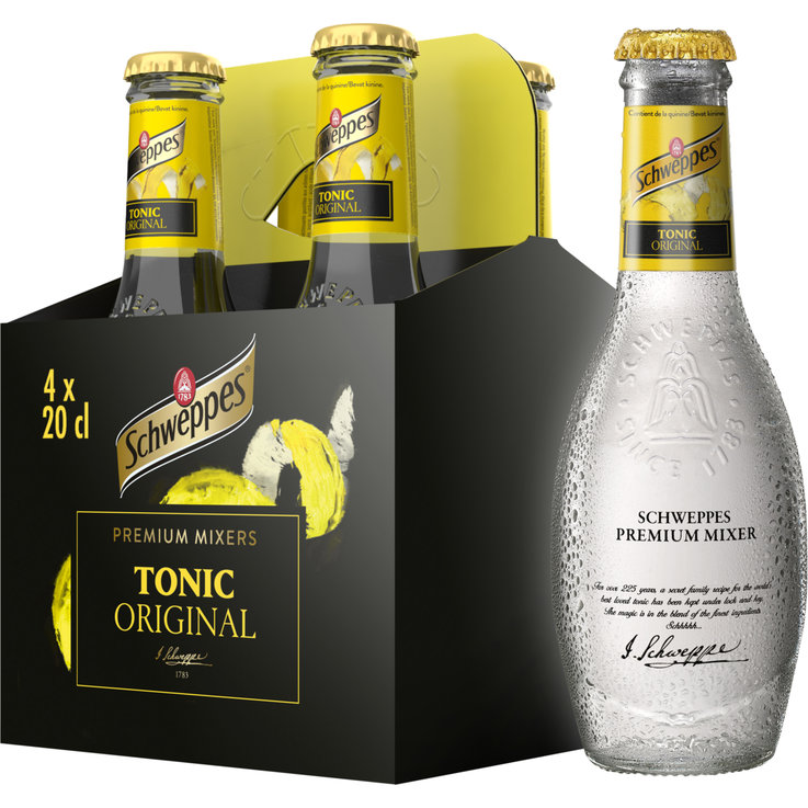 Citron amer & Eau tonique - Schweppes Premium Mixers Tonic Original & Lime 4x20cl