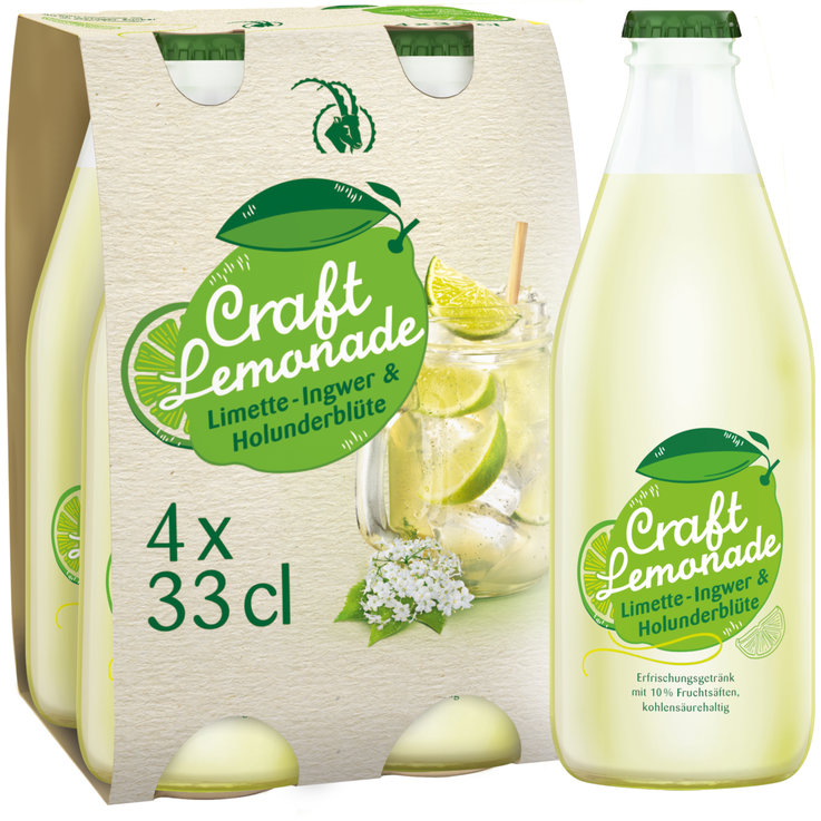 Autres limonades - Rhäzünser Craft Lemonade Limette 4x33cl