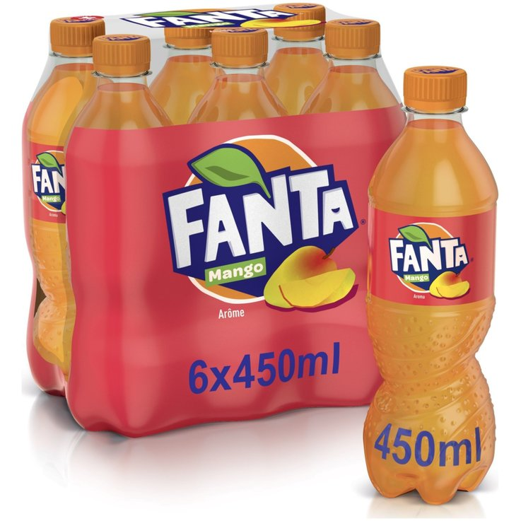 Orange - Fanta Mango Flavoured Soda 6x45cl