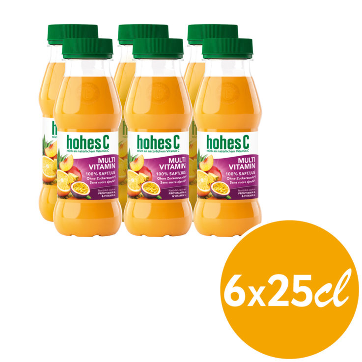 Autres jus de fruits - Hohes C Jus aux fruits multivitaminés 6x  25cl