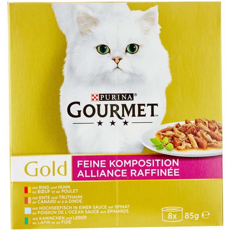 Nassfutter - Gourmet Gold Feine Komposition 8x85g