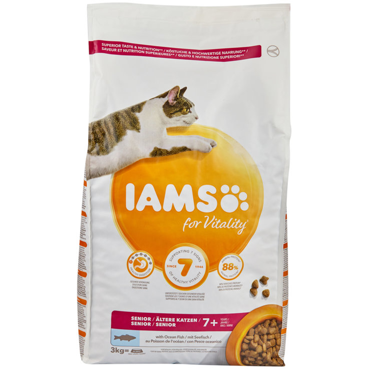 Dry Food - Iams Vitality Fish Flavoured Dry Senior Cat Food