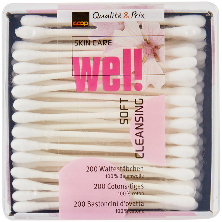 Cotton bud - well Cotton Swab Box 200 Pieces
