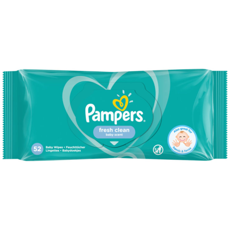 Wet Wipes - Pampers Fresh Clean Wet Wipes 52 Pieces