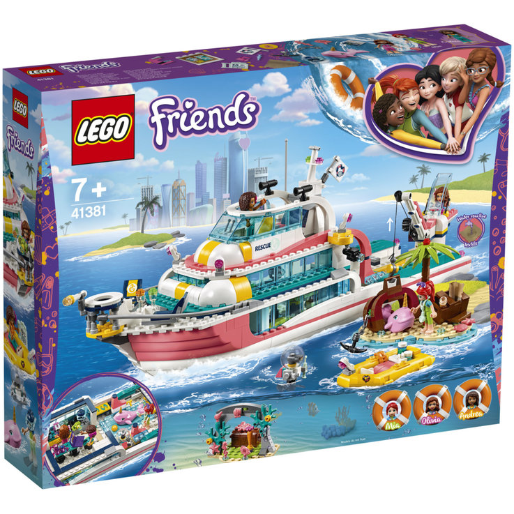 LEGO - Lego® Friends Rescue Boat 41381 7 Years+