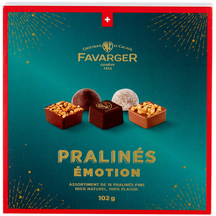 Chocolate and pastries - Favarger Emotion Pralines 16 Pieces