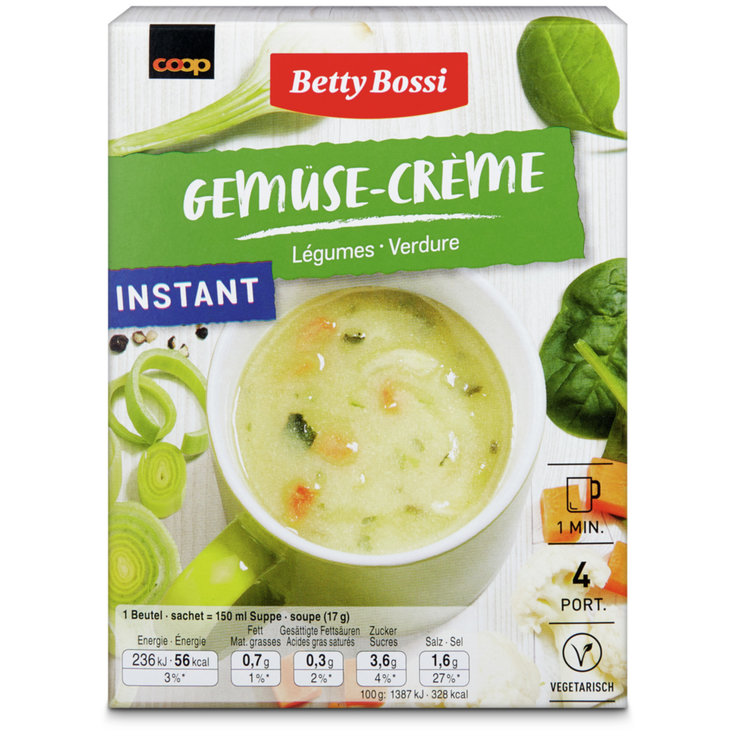 Vegetable & Mushroom Soups - Betty Bossi Vegetable Instant Soup