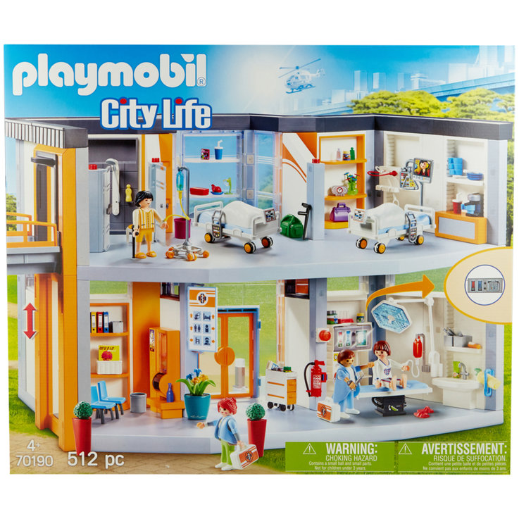 Playmobil - Playmobil Hospital with Accessories 70190 4 Years+