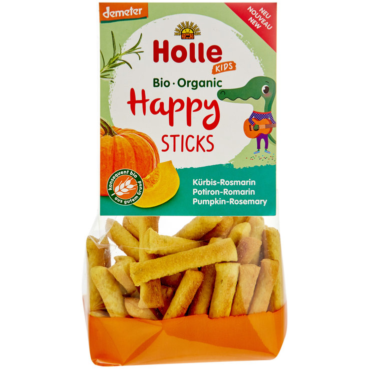 Snacks - Holle Naturaplan Demeter Organic Pumpkin Happy Sticks 3 Years+