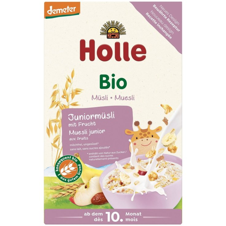 Ready-to-Mix Baby Food - Holle Naturaplan Demeter Organic Fruit Whole Grain Muesli 10 Months+