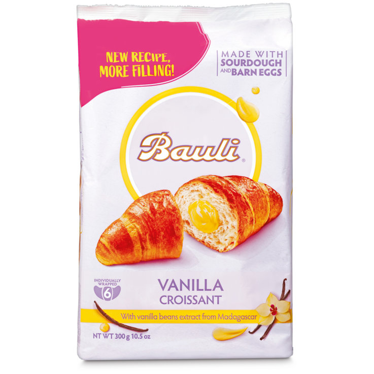 Sweet Bread Rolls & Panettone - Bauli Cream Croissants 6 Pieces