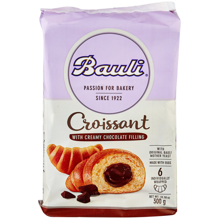 Sweet Bread Rolls & Panettone - Bauli Chocolate Croissants 6 Pieces