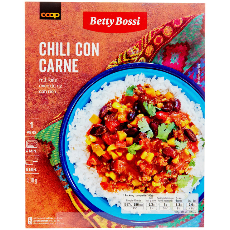 Altri piatti pronti conservati - Betty Bossi Chili con Carne