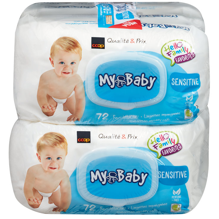 Wet Wipes - My Baby Sensitive Wet Wipes 8x72 Pieces