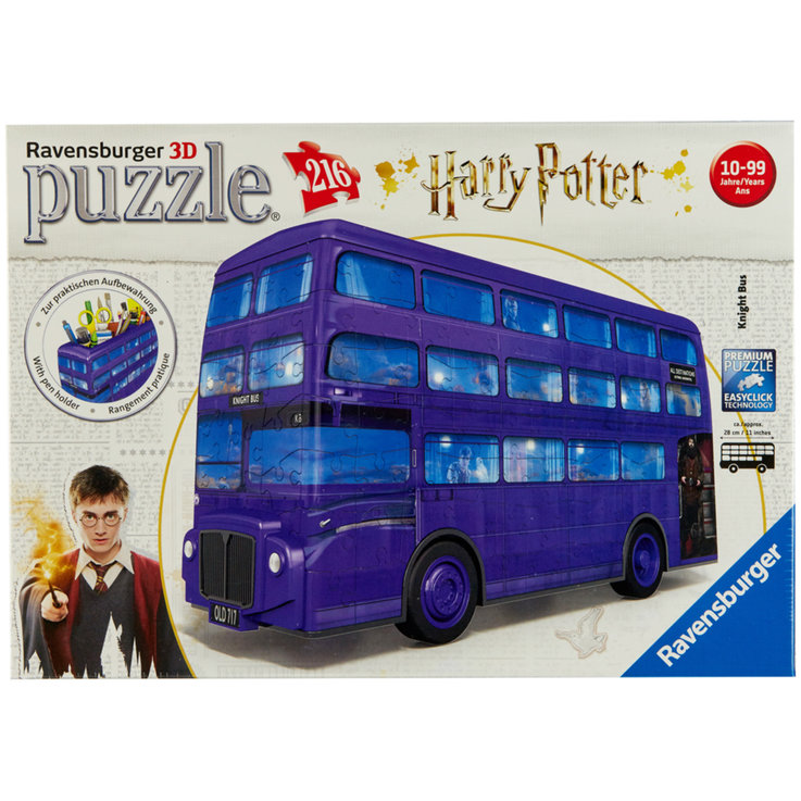Games & Puzzles - Ravensburger Harry Potter Knight Bus 3D Puzzle 10 Years+