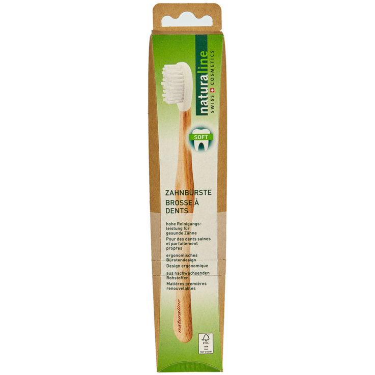 Brosses à dents pour adultes - Naturaline Brosse à dents en bois Soft