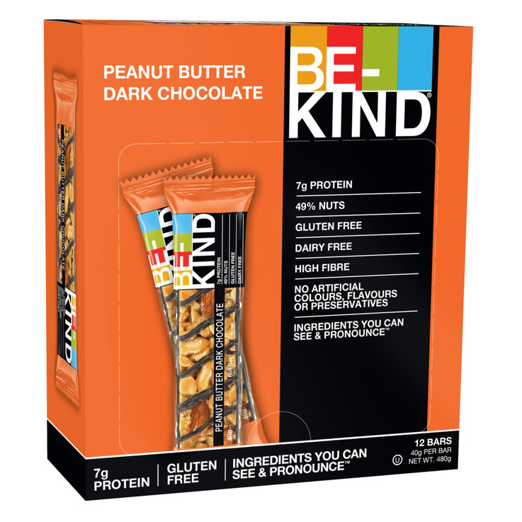 Getreideriegel - Be-Kind Peanut Butter Dark Chocolate 12x  40g