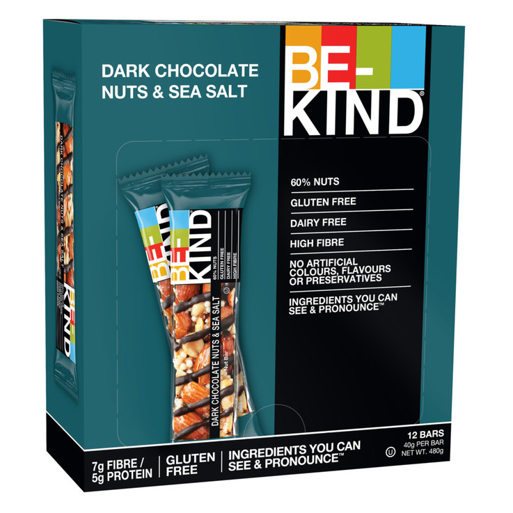 Bars with Chocolate - BE-KIND Riegel Dark Chocolat Nuts & Sea Salt 12x  40g