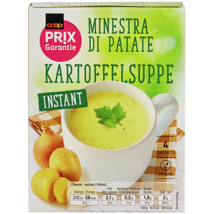 Clear Soup - Prix Garantie Instant Potato Soup Mix 4 Portions