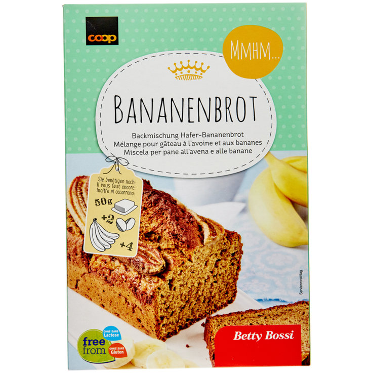 Pains précuits - Betty Bossi Cake à la banane sans gluten