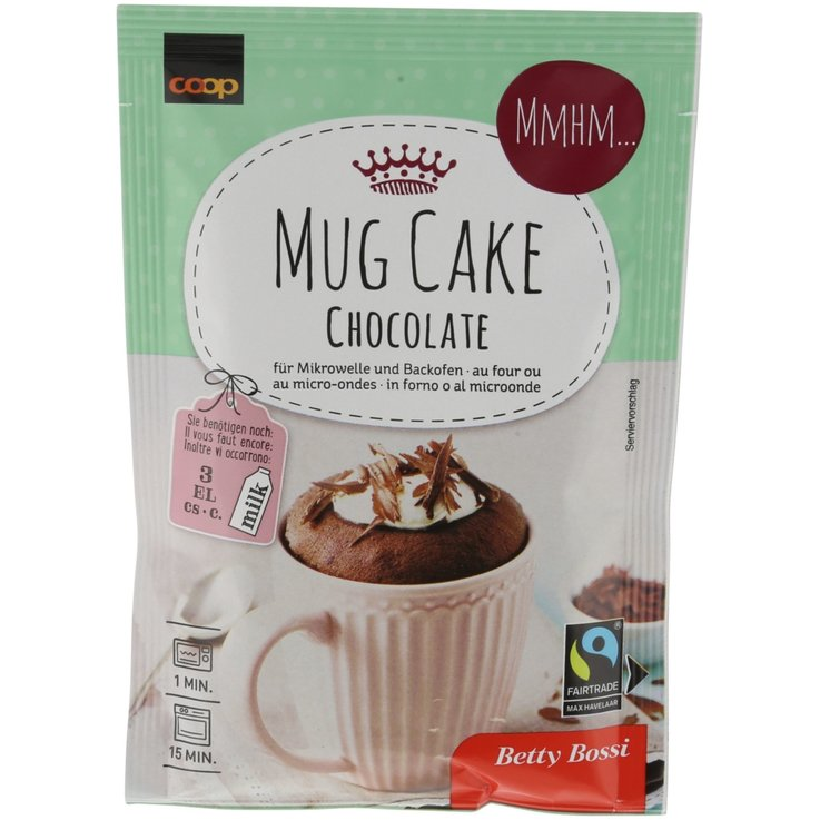 Mélanges pour gâteau - Betty Bossi Fairtrade Mug Cake au chocolat