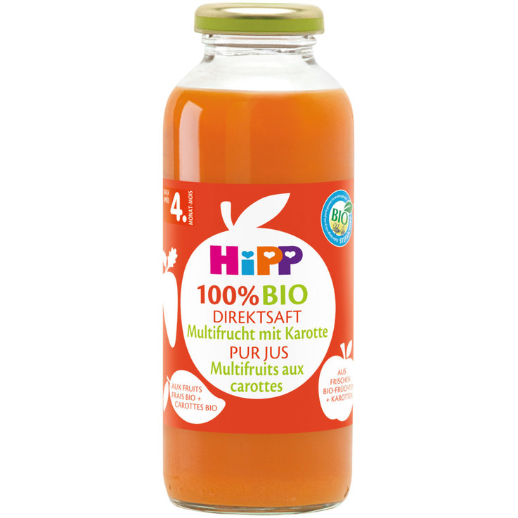Beverages - Hipp Organic Direct Multifruit Carrot Juice 4 Months+