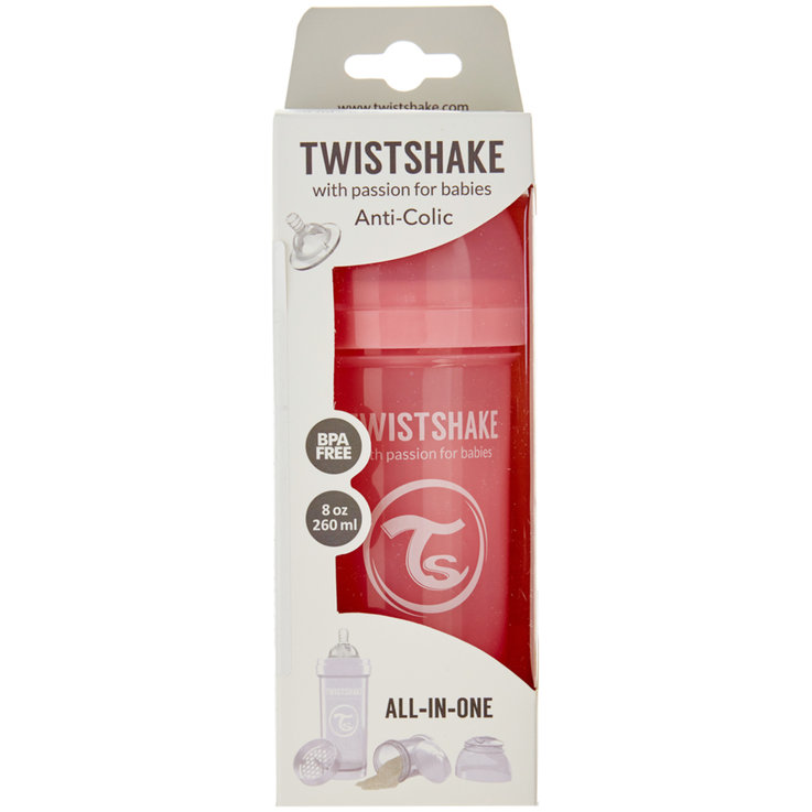 Baby Bottles & Accessories - Twistshake Red Anti-Colic Bottle 260ml