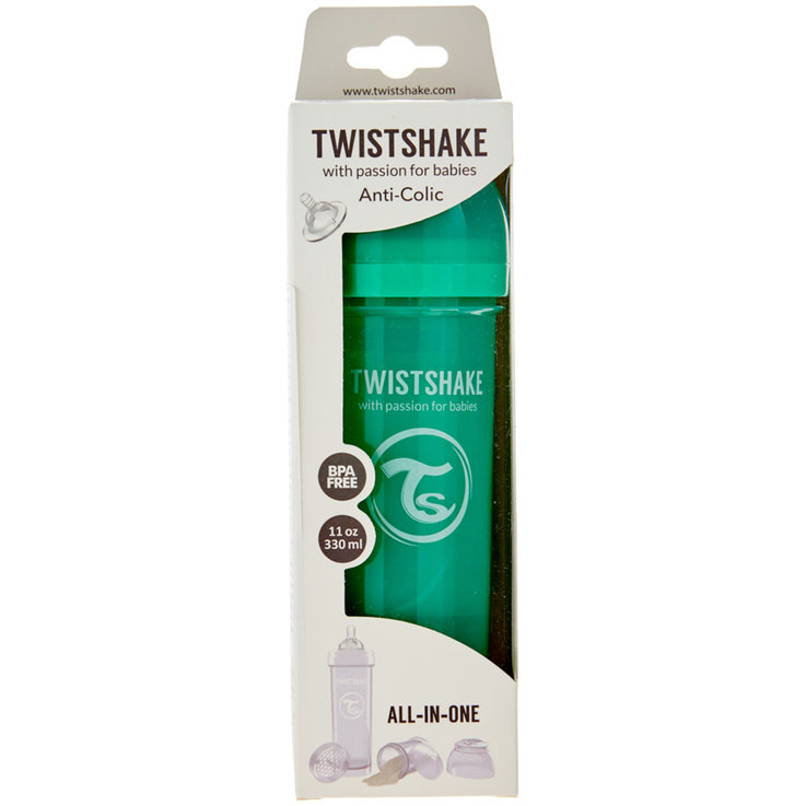 Baby Bottles & Accessories - Twistshake Green Anti-Colic Bottle 330ml