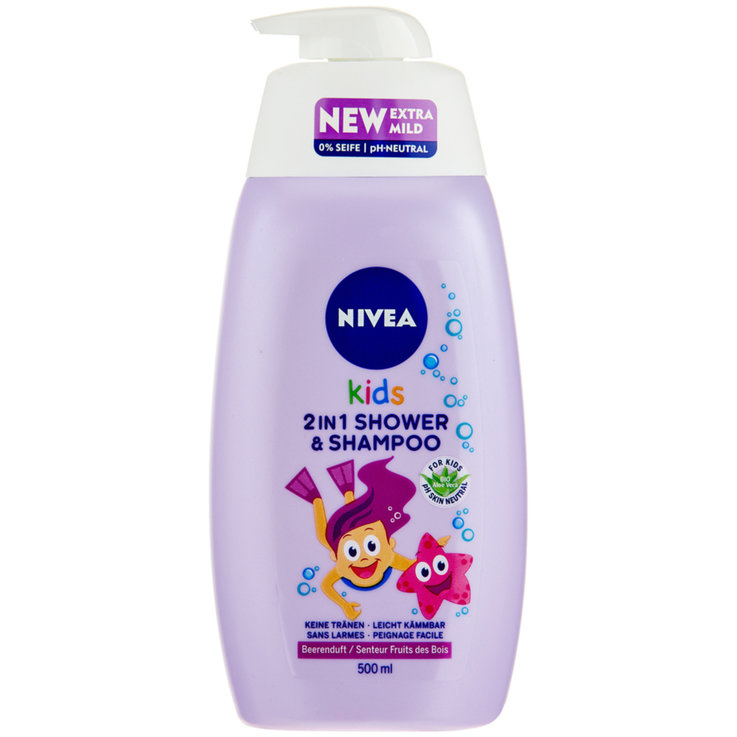Kids Shower, Bath & Shampoo - Kids 2in1 Shower&Shampoo Beerenduft 500m