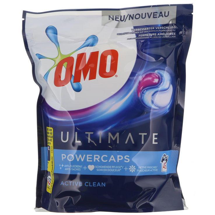 Universal & White - Omo Pastilles de lessive Power Active Clean 45 Pieces