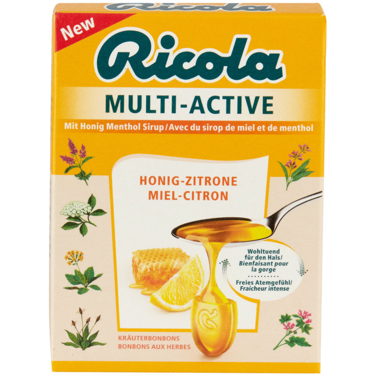 Herbal & Cough Sweets - Ricola Multi-Active Honey Lemon Lozenges