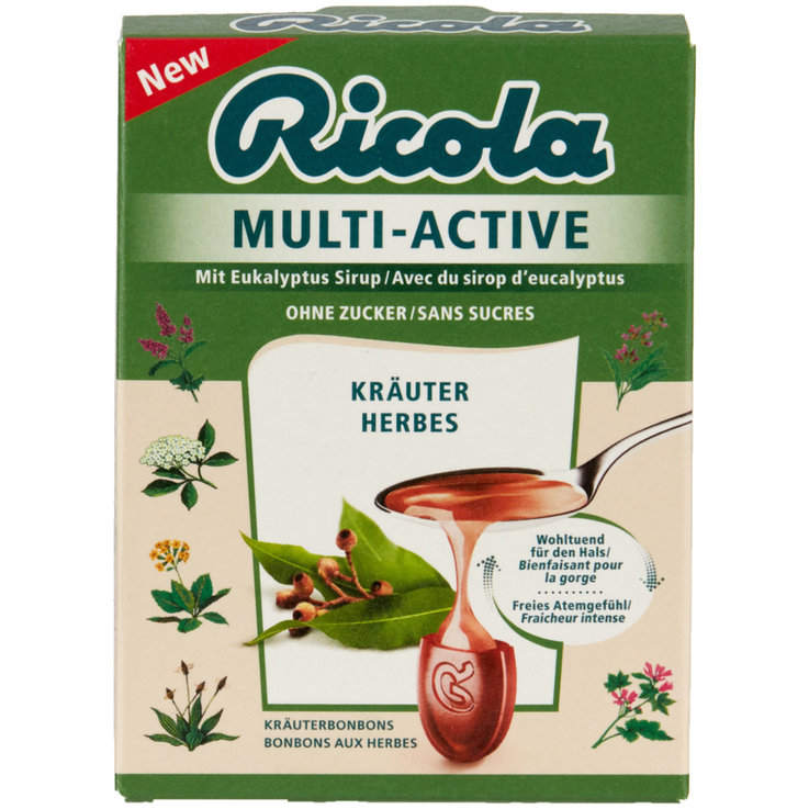 Herbal & Cough Sweets - Ricola Multi-Active Herb Lozenges