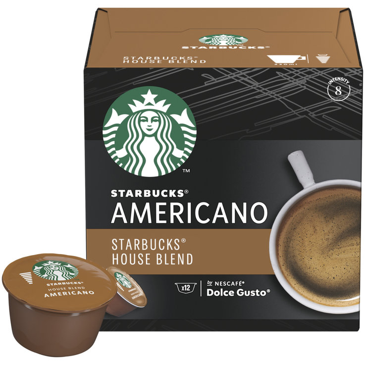 Compatible with Dolce Gusto - STARBUCKS® House Blend Grande by NESCAFE® DOLCE GUSTO® Medium Roast, 12 capsules