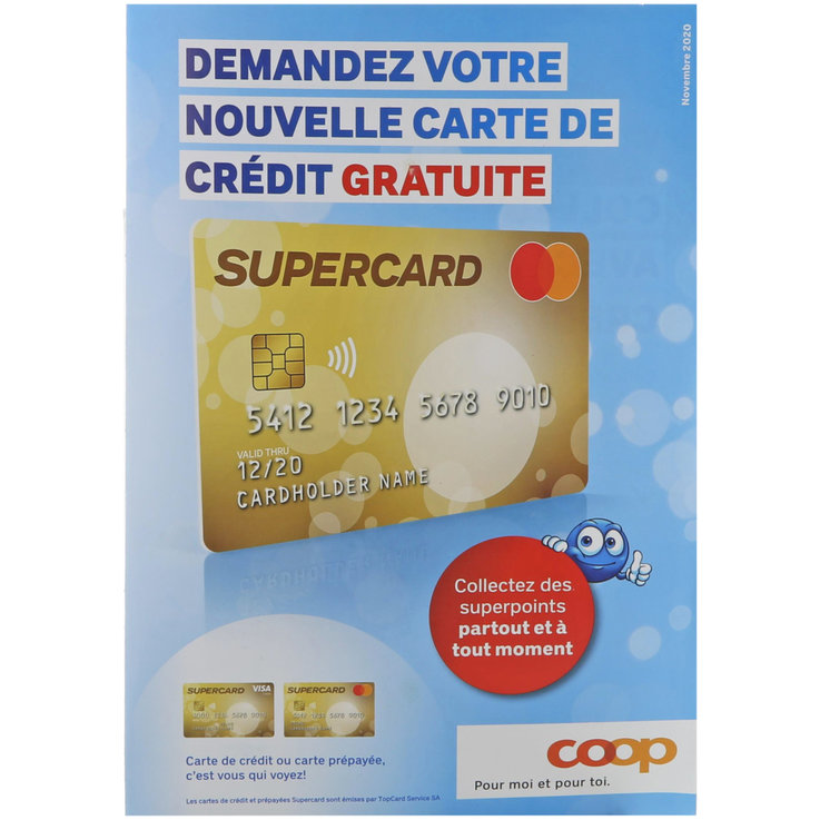 Online free products - Supercard Free Direct Mailing (FR)