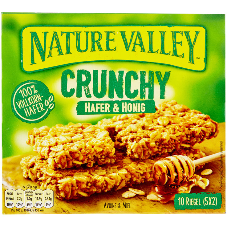 Riegel ohne Schokolade - Nature Valley Riegel Oats & Honey 5x42g