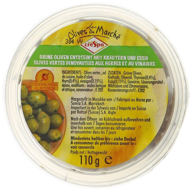 Olives - Crespo Pitted Herb Olives