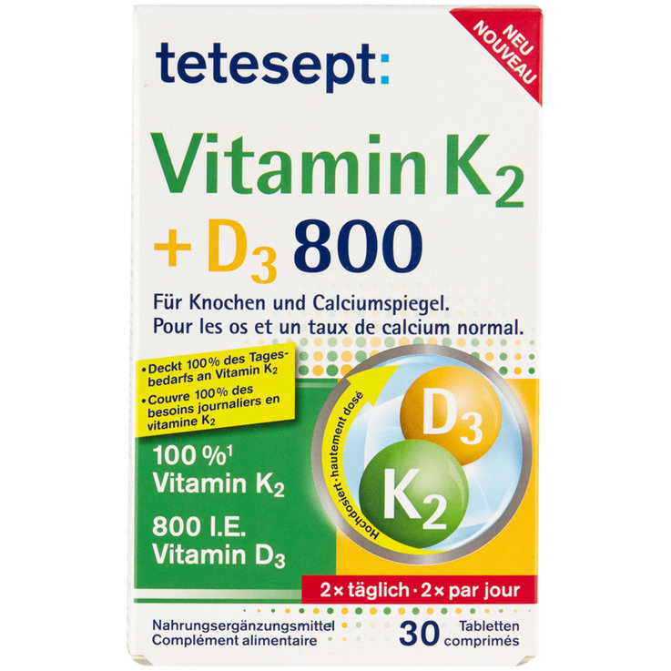 Pill - Tetesept Vitamin K2 + D3 Tablets 30 Pieces