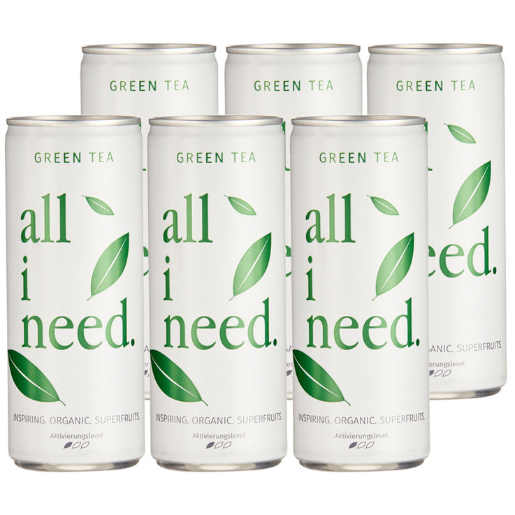 Ice Tea Spezialitäten - All i need. Green Tea 6x  25cl