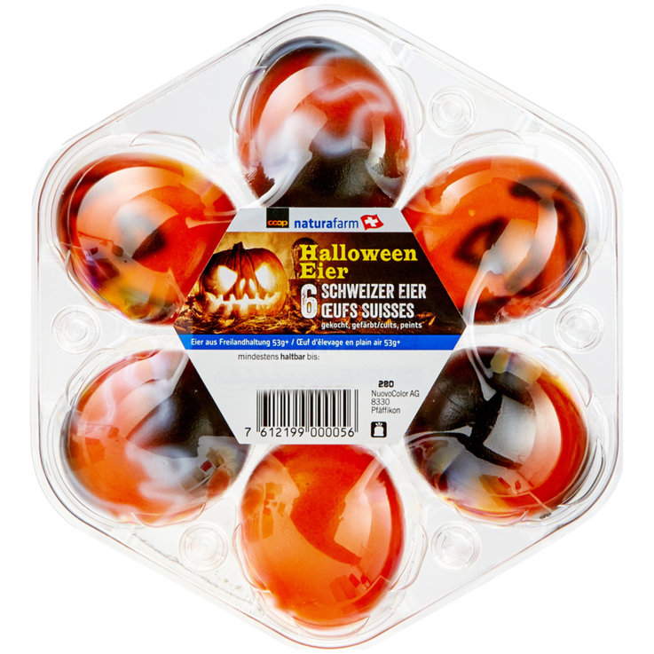 Hard-Boiled Eggs - Naturaplan Organic Halloween Pick-Nick Eggs 53g+ 6 Pieces
