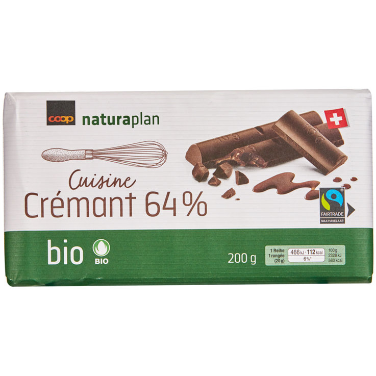 Cooking Chocolate - Naturaplan Organic 64% Cooking Chocolate