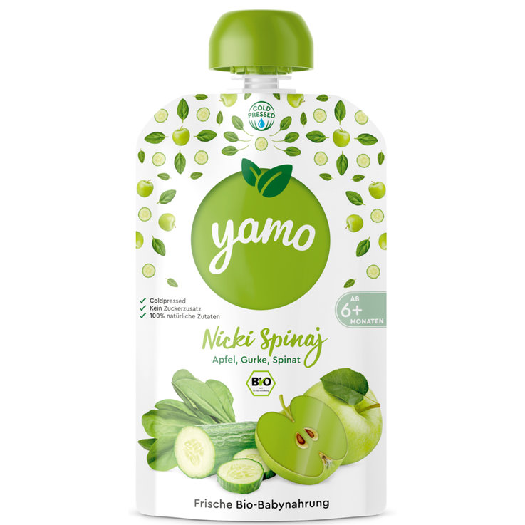 Smoothies - yamo Nicki Spinaj Compote Pouch 6 Months+